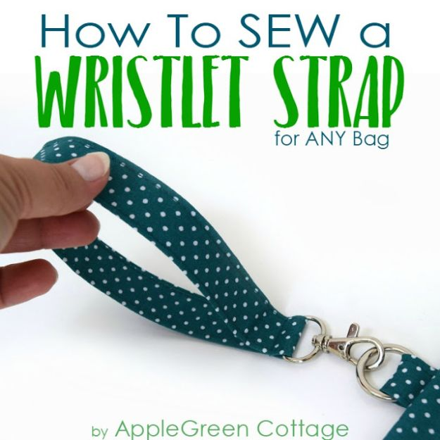 Sewing Projects for Beginners - Sew A Wristlet Strap - Easy Sewing Project Ideas and Free Patterns for Basic Clothing, Kids Clothes, Quick Baby Gifts, DIY Bags, Sewing Crafts to Make and Sell on Etsy - Scarf Tutorial, Blankets, Stuffed Animals, Home Decor and Linens, Curtains and Bedding, Hand Sewn cute christmas gifts to sew