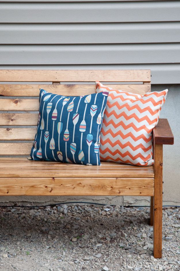 DIY Outdoor Furniture - Slatted Outdoor Sofa - Cheap and Easy Ideas for Patio and Porch Seating and Tables, Chairs, Sofas - How To Make Outdoor Furniture Projects on A Budget - Fmaily Friendly Decor Kids Love - Quick Projects to Make This Weekend - Swings, Pallet Tables, End Tables, Rocking Chairs, Daybeds and Benches http://diyjoy.com/diy-outdoor-furniture