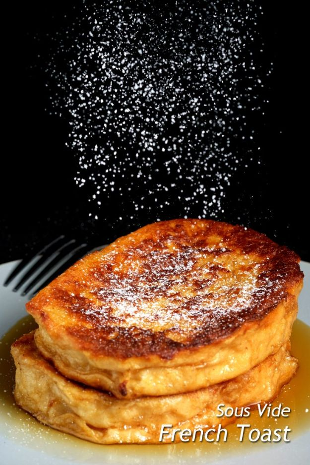 French Toast Recipes - Sous Vide French Toast - Best Brunch Bites and Breakfast Ideas for French Toast - Stuffed, Baked and Creme Brulee Toasts With Fruit - Healthy Sugar Free, Gluten Free and Keto Versions - Casserole Ideas for Parties and Feeding A Crowd, Sticks and Overnight Prep - How To Make French Toast Perfectly, Classic Powdered Sugar French Toast Recipe http://diyjoy.com/french-toast-recipes