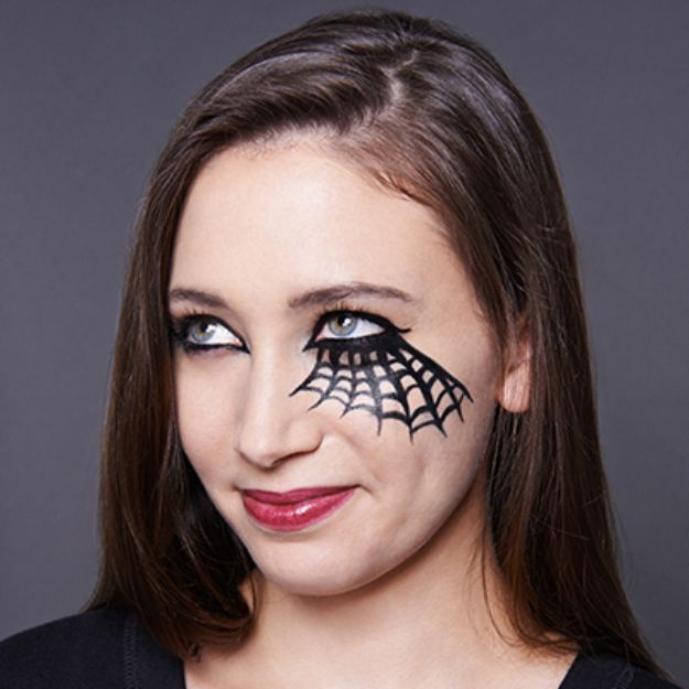 Best Halloween Makeup Tutorials - Spider Queen - Easy Makeup Tips and Tutorial Ideas for The Best Halloween Costume - Animals, Eyes, Creative Faces, Simple and Scary Ghosts, Skeletons and Creatures - Zombie Makeup, Cute Looks, DIY Vampire, Gypsy, Mermaid and Creepy Sugar Skull, Cool Glam Looks for A Halloween Party and Instagram Photos - Ideas for Couples and Kids http://diyjoy.com/best-halloween-makeup-tutorials
