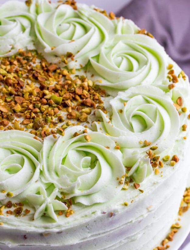 DIY Birthday Cakes - Vanilla Bean Pistachio Cake - How To Make A Birthday Cake With Step by Step Tutorial - Bake Homemade Cakes for Special Occasions and Birthdays With These Best Birthday Cake Recipes - Fancy Chocolate, Basic Vanilla Buttercream easy cakes recipes birthdays