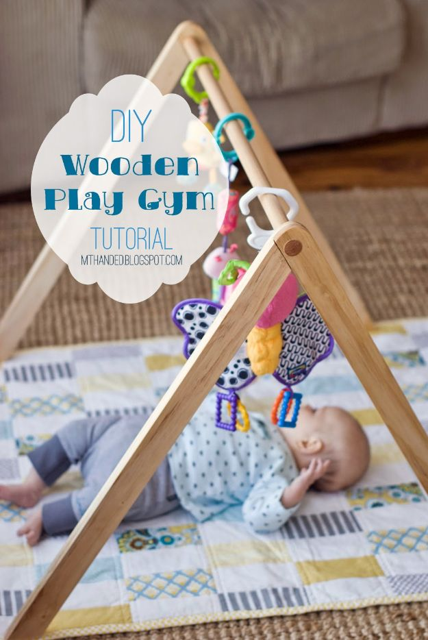 DIY Nursery Decor - Wooden Baby Gym - Easy Projects to Make for Baby Room - Decorations for Boy and Girl Rooms, Unisex, Minimalist and Modern Nurseries and Rustic, Farmhouse Style - All White, Pink, Blue, Yellow and Green - Cribs, Bedding, Wall Art and Hangings, Rocking Chairs, Pillows, Changing Tables, Storage and Bassinet for Baby http://diyjoy.com/diy-nursery-decor