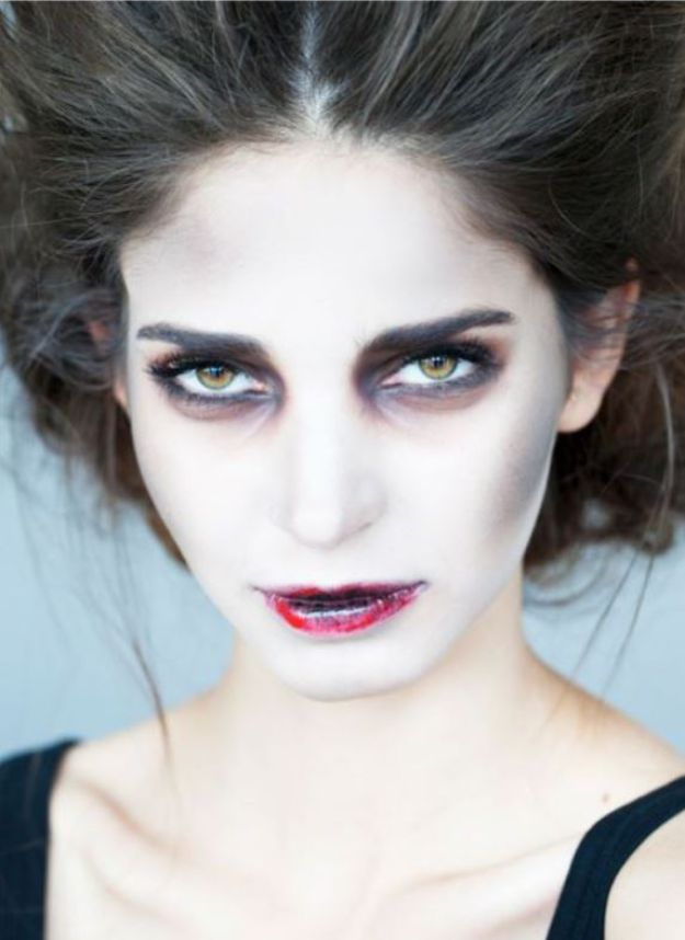 Best Halloween Makeup Tutorials - Zombie Bride - Easy Makeup Tips and Tutorial Ideas for The Best Halloween Costume - Animals, Eyes, Creative Faces, Simple and Scary Ghosts, Skeletons and Creatures - Zombie Makeup, Cute Looks, DIY Vampire, Gypsy, Mermaid and Creepy Sugar Skull, Cool Glam Looks for A Halloween Party and Instagram Photos - Ideas for Couples and Kids http://diyjoy.com/best-halloween-makeup-tutorials