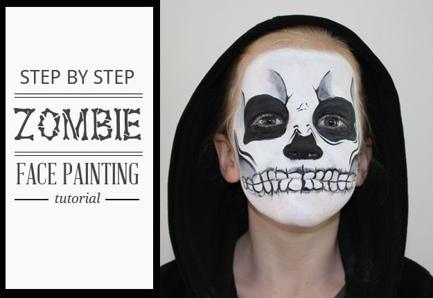 Best Halloween Makeup Tutorials - Zombie Face - Easy Makeup Tips and Tutorial Ideas for The Best Halloween Costume - Animals, Eyes, Creative Faces, Simple and Scary Ghosts, Skeletons and Creatures - Zombie Makeup, Cute Looks, DIY Vampire, Gypsy, Mermaid and Creepy Sugar Skull, Cool Glam Looks for A Halloween Party and Instagram Photos - Ideas for Couples and Kids http://diyjoy.com/best-halloween-makeup-tutorials