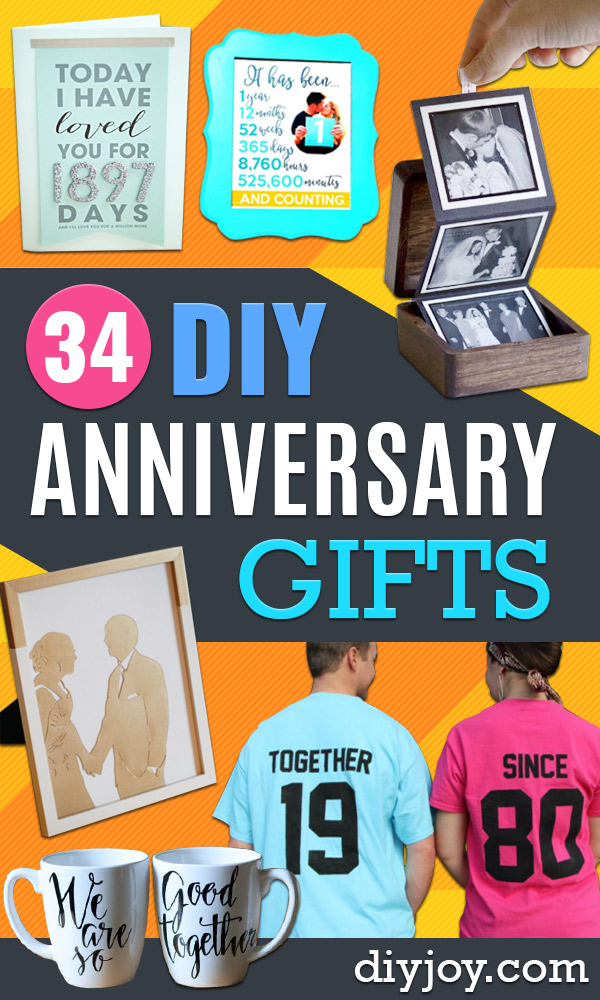 DIY Anniversary Gifts - Homemade, Handmade Gift Ideas for Wedding Anniversaries - Cool, Easy and Inexpensvie Gifts To Make for Husband or Wife http://diyjoy.com/diy-anniversary-gifts