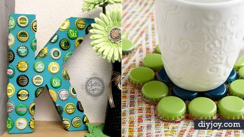 34 DIY Crafts Made With Bottle Caps | DIY Joy Projects and Crafts Ideas