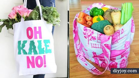 35 DIY Shopping Bags | DIY Joy Projects and Crafts Ideas