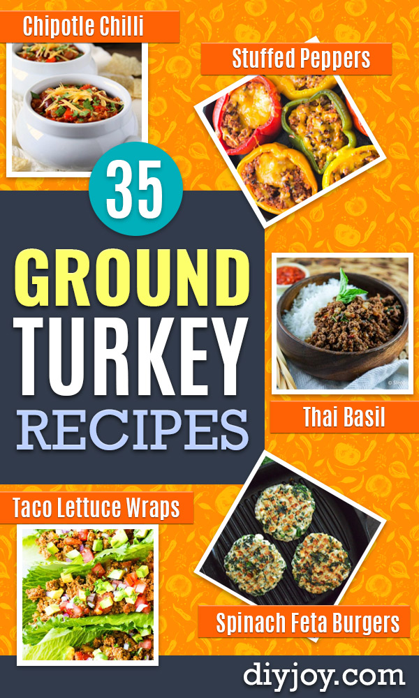 Ground Turkey Recipes - Healthy and Easy Turkey Recipe Ideas for Dinner, Lunch, Snack - Quick Crockpot and Instant Pot, Casserole, Meatballs, Pasta and Burgers - Keto Friendly and Low Carb, Paleo, Gluten Free http://diyjoy.com/ground-turkey-recipes