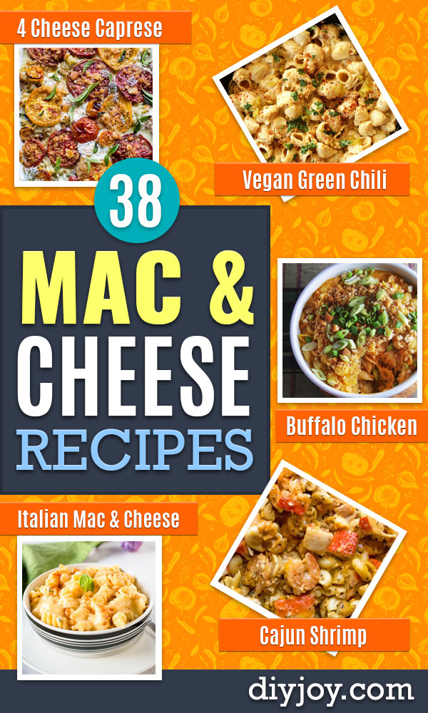 Macaroni and Cheese Recipes - Best Mac and Cheese Recipe - Baked, Crockpot, Stovetop and Easy, Quick Variations - Homemade, Creamy Sauce - Pioneer Woman Favorites - Velveets Cheddar and 3 Cheese Bacon, Breadcrumbs http://diyjoy.com/mac-and-cheese-recipes