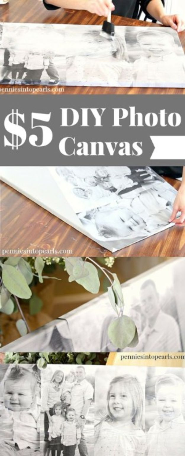 Cheap Last Minute Gifts DIY - $5 DIY Photo Canvas - Inexpensive DIY Gift Ideas To Make On A Budget - Homemade Christmas and Birthday Presents to Make For Mom, Dad, Daughter & Son, Kids, Friends and Family - Cool and Creative Crafts, Home Decor and Accessories, Fun Gadgets and Phone Stuff - Quick Gifts From Dollar Tree Items http://diyjoy.com/cheap-last-minute-gifts