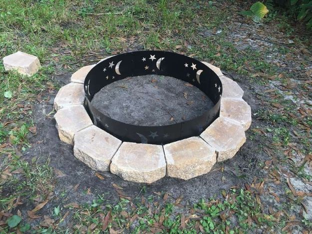 DIY Firepits - $75 DIY Fire Pit - Step by Step Tutorial for Raised Firepit , In Ground, Portable, Brick, Stone, Metal and Cinder Block Outdoor Fireplace #outdoors #diy