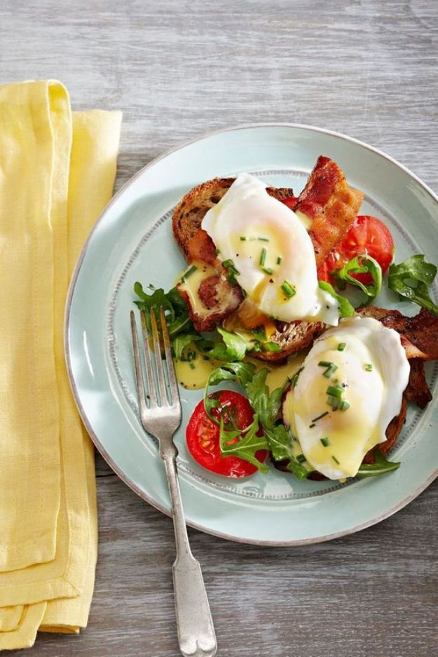 Eggs Benedict Recipes - BLT Eggs Benedict - Best Benedicts and Recipe Ideas for Breakfast, Brunch and Lunch - Easy and Quick Eggs Benedict, Classic, Salmon, Vegetarian and Healthy Variations - How to Make Hollandaise Sauce - Pioneer Woman Favorites - Eggs Benedict Casserole for A Crowd http://diyjoy.com/eggs-benedict-recipes