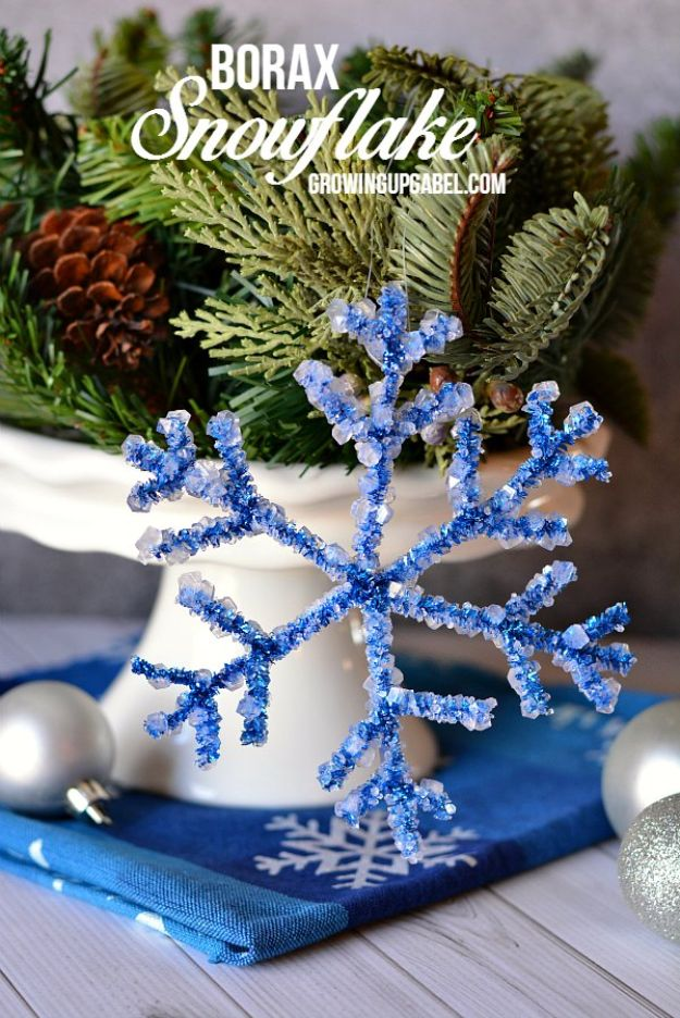 Winter Crafts for Toddlers and Kids - Borax Snowflake - Easy Art Projects and Craft Ideas for 2 Year Olds, Preschool Age Children - Simple Indoor Activities, Things To Make At Home in Wintertime - Snow, Snowflake and Icicle, Snowmen - Classroom Art Projects #kidscrafts #craftsforkids #winters