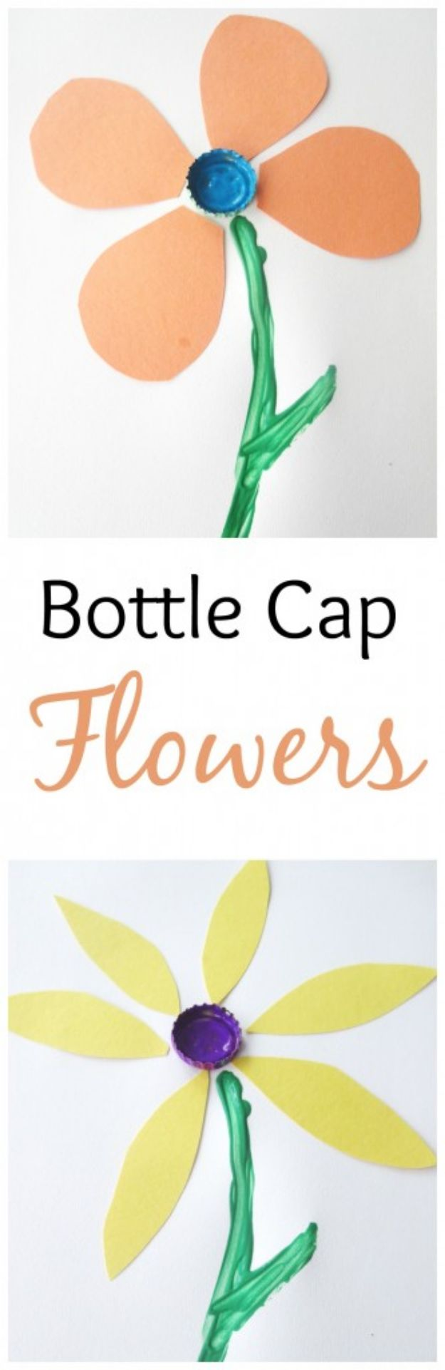 DIY Bottle Cap Crafts - Bottle Cap Flowers - Make Jewelry Projects, Creative Craft Ideas, Gift Ideas for Men, Women and Kids, KeyChains and Christmas Ornaments, Presents