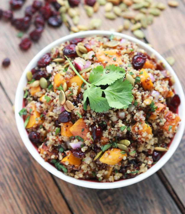 Meal Prep Ideas - Butternut Squash and Cranberry Quinoa Salad - Recipes and Planning Tips for Making a Week of Meals - Easy, Healthy Recipe Ideas to Make Ahead - Weeknight Dinners Lunches  #mealprep #dinnerideas