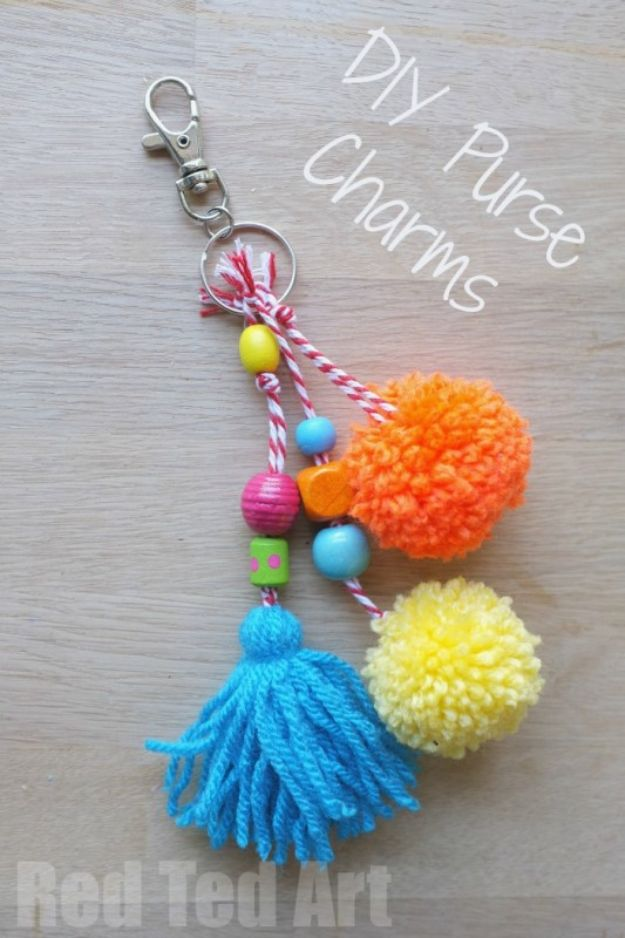 Cheap Last Minute Gifts DIY - Colourful Purse Charms - Inexpensive DIY Gift Ideas To Make On A Budget - Homemade Christmas and Birthday Presents to Make For Mom, Dad, Daughter & Son, Kids, Friends and Family - Cool and Creative Crafts, Home Decor and Accessories, Fun Gadgets and Phone Stuff - Quick Gifts From Dollar Tree Items http://diyjoy.com/cheap-last-minute-gifts