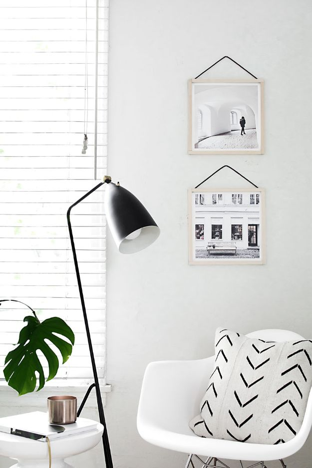 Cheap DIY Living Room Decor Ideas - DIY Hanging Frames - Cool Modern, Rustic Creative Farmhouse Home Decor On A Budget - Do It Yourself Coffee Tables, Wall Art, Rugs, Pillows and Chairs. Step by Step Tutorials and Instructions