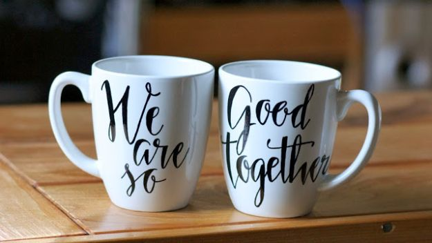 DIY His and Her Mugs