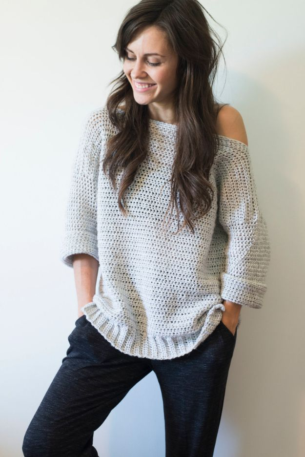 DIY Clothes for Winter - DIY Homebody Sweater - Cool Fashion Ideas to Make for Cold Weather - Handmade Scarves, Hats, Coats, Gloves and Mittens, Sweaters and Wraps - Easy Sewing Tutorials and No Sew Items - Creative and Quick Homemade Gifts and Christmas Present Ideas http://diyjoy.com/diy-clothes-winter
