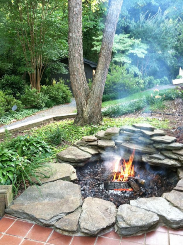 DIY Firepits - DIY Koi Pond Fire Pit Transformation - Step by Step Tutorial for Raised Firepit , In Ground, Portable, Brick, Stone, Metal and Cinder Block Outdoor Fireplace #outdoors #diy