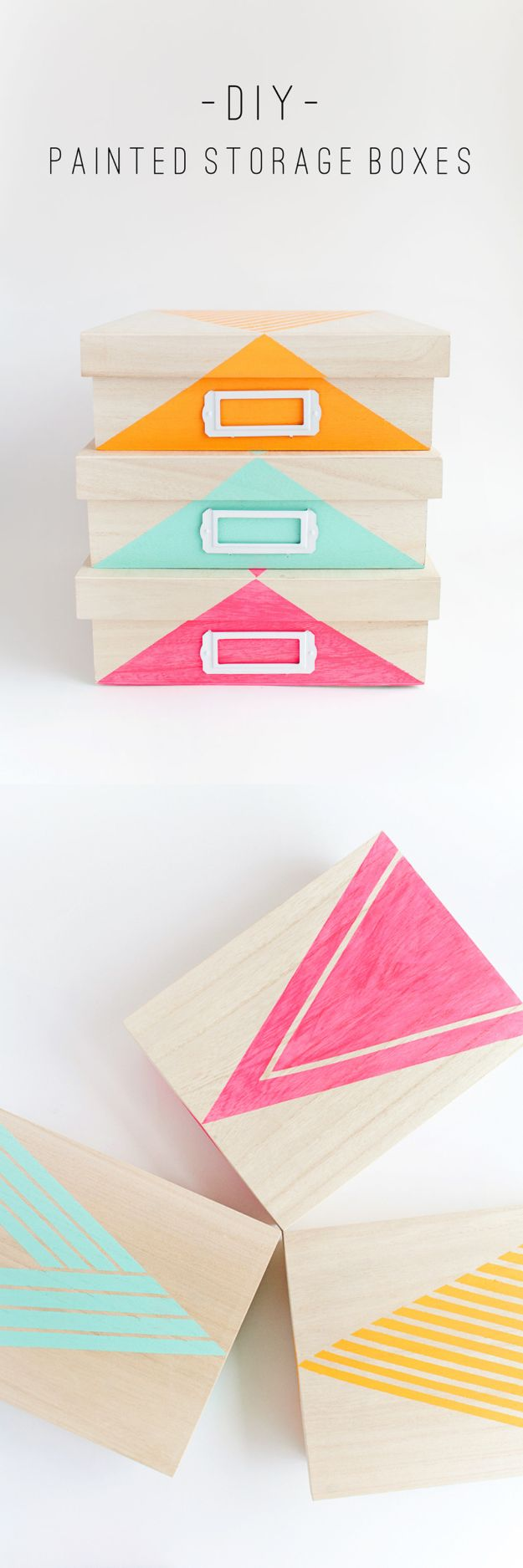 Cheap Last Minute Gifts DIY - DIY Painted Storage Boxes - Inexpensive DIY Gift Ideas To Make On A Budget - Homemade Christmas and Birthday Presents to Make For Mom, Dad, Daughter & Son, Kids, Friends and Family - Cool and Creative Crafts, Home Decor and Accessories, Fun Gadgets and Phone Stuff - Quick Gifts From Dollar Tree Items #diygifts #cheapgifts #christmasgifts