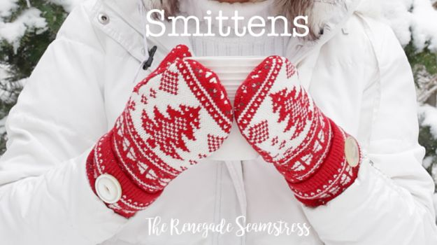 DIY Clothes for Winter - DIY Smittens - Cool Fashion Ideas to Make for Cold Weather - Handmade Scarves, Hats, Coats, Gloves and Mittens, Sweaters and Wraps - Easy Sewing Tutorials and No Sew Items - Creative and Quick Homemade Gifts and Christmas Present Ideas http://diyjoy.com/diy-clothes-winter