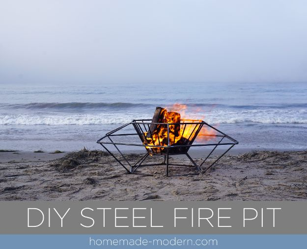 DIY Firepits - DIY Steel Fire Pit - Step by Step Tutorial for Raised Firepit , In Ground, Portable, Brick, Stone, Metal and Cinder Block Outdoor Fireplace #outdoors #diy