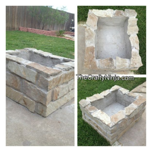 DIY Firepits - DIY Stone Fire Pit - Step by Step Tutorial for Raised Firepit , In Ground, Portable, Brick, Stone, Metal and Cinder Block Outdoor Fireplace #outdoors #diy