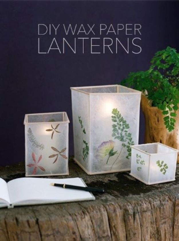 Cheap Last Minute Gifts DIY - DIY Wax Paper Lanterns - Inexpensive DIY Gift Ideas To Make On A Budget - Homemade Christmas and Birthday Presents to Make For Mom, Dad, Daughter & Son, Kids, Friends and Family - Cool and Creative Crafts, Home Decor and Accessories, Fun Gadgets and Phone Stuff - Quick Gifts From Dollar Tree Items #diygifts #cheapgifts #christmasgifts