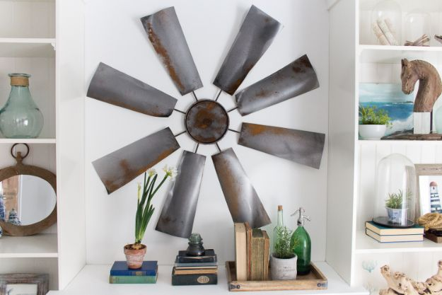 Cheap DIY Living Room Decor Ideas - DIY Windmill - Cool Modern, Rustic Creative Farmhouse Home Decor On A Budget - Do It Yourself Coffee Tables, Wall Art, Rugs, Pillows and Chairs. Step by Step Tutorials and Instructions #diydecor #livingroom #decorideas