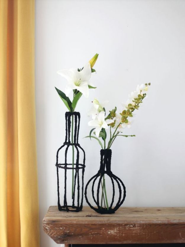 Cheap DIY Gift Ideas - Decorative Wire Vase DIY - List of Handmade Gifts on A Budget and Inexpensive Christmas Presents - Do It Yourself Gift Idea for Family and Friends, Mom and Dad, For Guys and Women, Boyfriend, Girlfriend, BFF, Kids and Teens - Dollar Store and Dollar Tree Crafts, Home Decor, Room Accessories and Fun Things to Make At Home #diygifts #christmas #giftideas #diy
