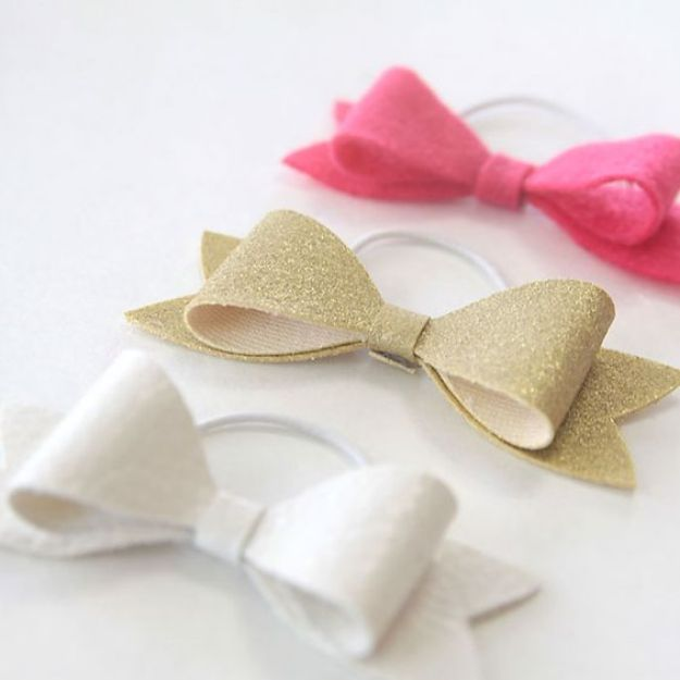 Cheap DIY Gift Ideas - Easy DIY Hair Bow Elastics - List of Handmade Gifts on A Budget and Inexpensive Christmas Presents - Do It Yourself Gift Idea for Family and Friends, Mom and Dad, For Guys and Women, Boyfriend, Girlfriend, BFF, Kids and Teens - Dollar Store and Dollar Tree Crafts, Home Decor, Room Accessories and Fun Things to Make At Home #diygifts #christmas #giftideas #diy