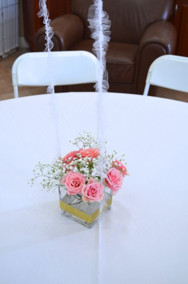 DIY Baby Shower Decorations - Easy DIY Party Centerpiece - Cute and Easy Ways to Decorate for A Baby Shower Ideas in Pink and Blue for Boys and Girls- Games and Party Decor - Banners, Cake, Invitations and Favors http://diyjoy.com/diy-baby-shower-decorations