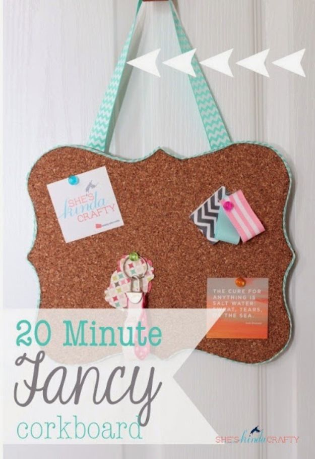 Cheap Last Minute Gifts DIY - Fancy Corkboard - Inexpensive DIY Gift Ideas To Make On A Budget - Homemade Christmas and Birthday Presents to Make For Mom, Dad, Daughter & Son, Kids, Friends and Family - Cool and Creative Crafts, Home Decor and Accessories, Fun Gadgets and Phone Stuff - Quick Gifts From Dollar Tree Items #diygifts #cheapgifts #christmasgifts