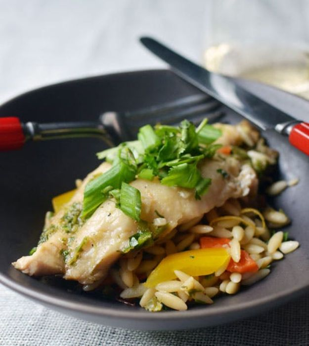 Tilapia Recipes - Ginger and Cilantro Baked Tilapia - Best Recipe Ideas for Tilapia Fish - Dinner, Lunch, Snacks and Appetizers - Healthy Foods, Gluten Free Low Carb and Keto Friendly Dishes - Salads, Pastas and Easy Weeknight Dinners, Lunches for Work - Broiled, Grilled, Lemon Baked, Fried and Quick Ways to Make Tilapia #fish #healthy #recipes