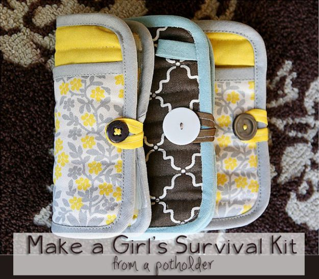 Cheap Last Minute Gifts DIY - Girl's Survival Kit - Inexpensive DIY Gift Ideas To Make On A Budget - Homemade Christmas and Birthday Presents to Make For Mom, Dad, Daughter & Son, Kids, Friends and Family - Cool and Creative Crafts, Home Decor and Accessories, Fun Gadgets and Phone Stuff - Quick Gifts From Dollar Tree Items http://diyjoy.com/cheap-last-minute-gifts