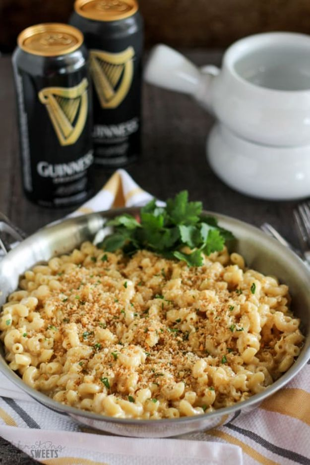Macaroni and Cheese Recipes - Guinness and Irish Cheddar Macaroni & Cheese - Best Mac and Cheese Recipe - Baked, Crockpot, Stovetop and Easy, Quick Variations - Homemade, Creamy Sauce - Pioneer Woman Favorites - Velveets Cheddar and 3 Cheese Bacon, Breadcrumbs