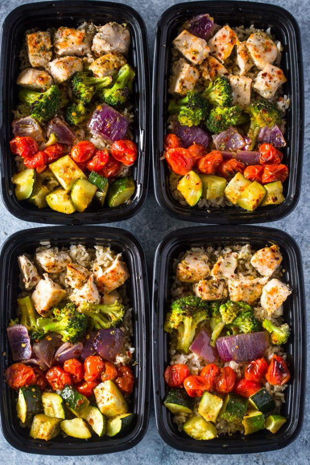 Healthy Chicken Meal Prep Recipe - Healthy Roasted Chicken and Veggies - Chicken Recipes for Meal Prep Dinner and Lunch - Healthy Meal Prep Recipes to Lost Weight and Diet