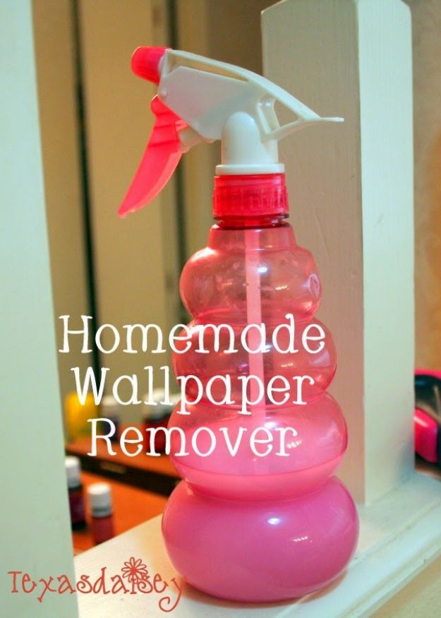 Wallpaper Tips and Tricks - Homemade Wallpaper Remover - Easy DIY Wallpapering Tutorials - How to Hang Wall Paper for Beginners - Step by Step Instructions and Cool Hacks for Hanging Wall Papers http://diyjoy.com/wallpaper-tips-tricks