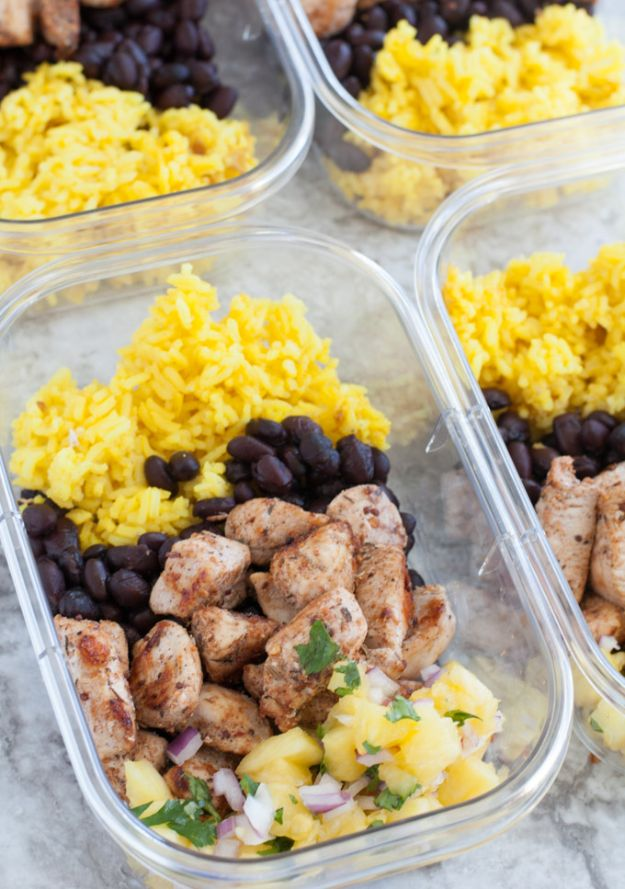 Easy Meal Prep Chicken Recipes- Jerk Chicken Meal Prep - Healthy Prepping Recipes and Planning Meals to Freeze Ahead - Simple Meal Prep Ideas