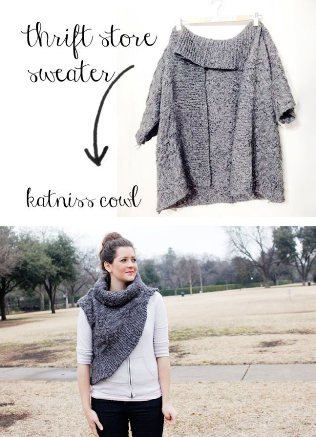 DIY Clothes for Winter - Katniss Cowl - Cool Fashion Ideas to Make for Cold Weather - Handmade Scarves, Hats, Coats, Gloves and Mittens, Sweaters and Wraps - Easy Sewing Tutorials and No Sew Items - Creative and Quick Homemade Gifts and Christmas Present Ideas