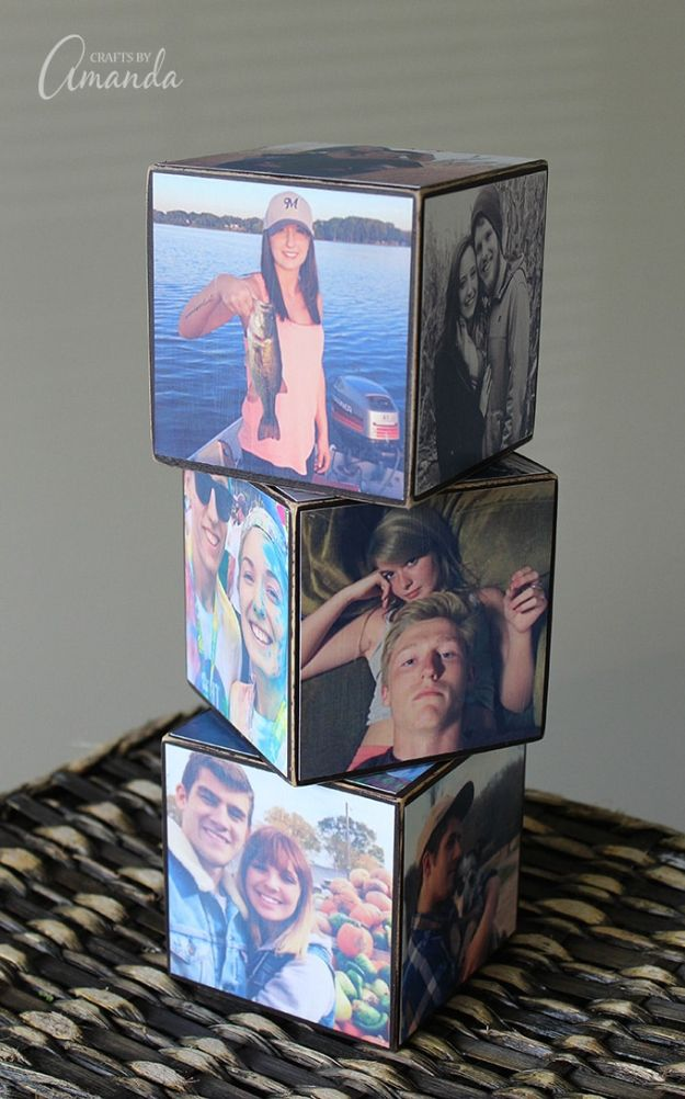 DIY anniversary Gifts - Make a Photo Cube - Homemade, Handmade Gift Ideas for Wedding Anniversaries - Cool, Easy and inexpensive Gifts To Make for Husband or Wife #anniverary #diy #gifts