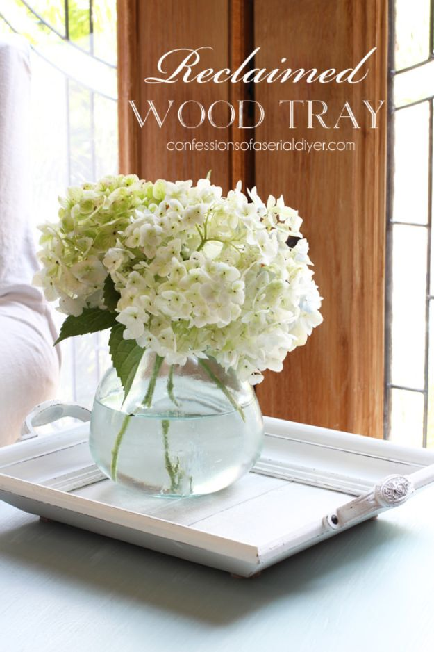 Cheap DIY Living Room Decor Ideas - Make a Tray from a Frame - Cool Modern, Rustic Creative Farmhouse Home Decor On A Budget - Do It Yourself Coffee Tables, Wall Art, Rugs, Pillows and Chairs. Step by Step Tutorials and Instructions #diydecor #livingroom #decorideas