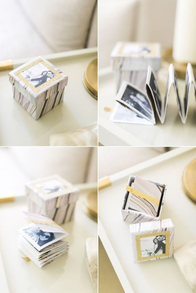 DIY anniversary Gifts - Mini Instagram Album - Homemade, Handmade Gift Ideas for Wedding Anniversaries - Cool, Easy and inexpensive Gifts To Make for Husband or Wife #anniverary #diy #gifts