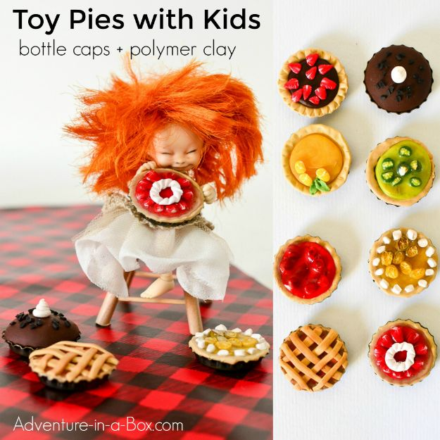DIY Bottle Cap Crafts - Miniature Pies with Kids - Make Jewelry Projects, Creative Craft Ideas, Gift Ideas for Men, Women and Kids, KeyChains and Christmas Ornaments, Presents