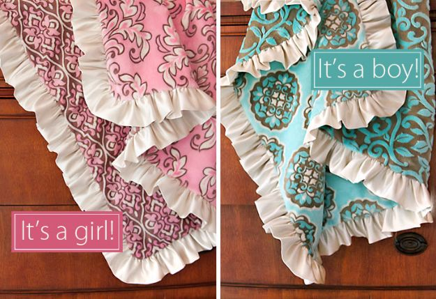DIY Baby Blankets - Minky and Satin Baby Blankets - Easy No Sew Ideas for Minky Blankets, Quilt Tutorials, Crochet Projects, Blanket Projects for Boy and Girl - How To Make a Blanket By Hand With Fleece, Flannel, Knit and Fabric Scraps - Personalized and Monogrammed Ideas - Cute Cheap Gifts for Babies  #babygifts