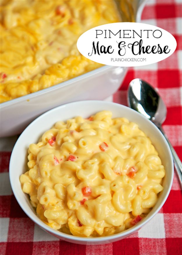 Macaroni and Cheese Recipes - Pimiento Mac and Cheese - Best Mac and Cheese Recipe - Baked, Crockpot, Stovetop and Easy, Quick Variations - Homemade, Creamy Sauce - Pioneer Woman Favorites - Velveets Cheddar and 3 Cheese Bacon, Breadcrumbs