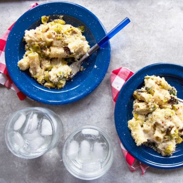 Macaroni and Cheese Recipes - Romano and Roasted Brussels Sprout Mac and Cheese - Best Mac and Cheese Recipe - Baked, Crockpot, Stovetop and Easy, Quick Variations - Homemade, Creamy Sauce - Pioneer Woman Favorites - Velveets Cheddar and 3 Cheese Bacon, Breadcrumbs http://diyjoy.com/mac-and-cheese-recipes
