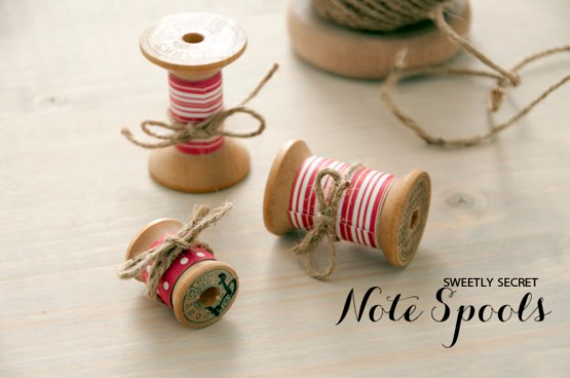 DIY anniversary Gifts - Spool of Love - Homemade, Handmade Gift Ideas for Wedding Anniversaries - Cool, Easy and inexpensive Gifts To Make for Husband or Wife #anniverary #diy #gifts