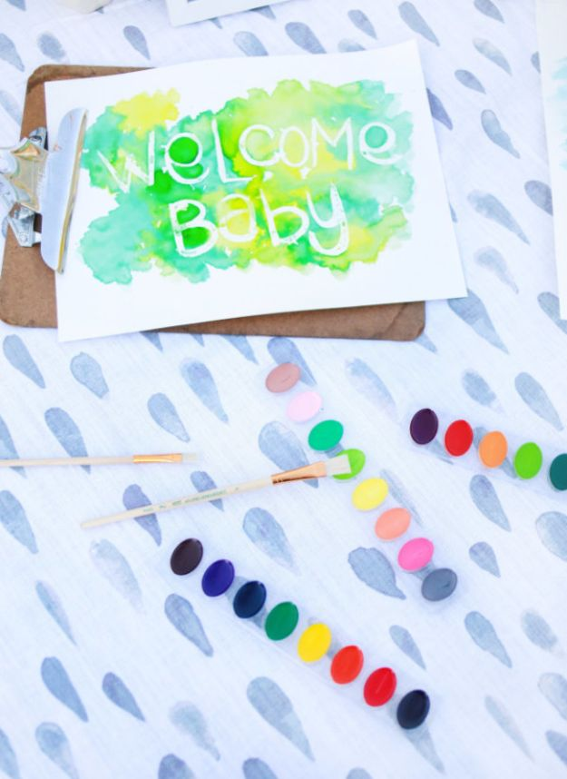 DIY Baby Shower Decorations - Sprinkle Baby Shower - Cute and Easy Ways to Decorate for A Baby Shower Ideas in Pink and Blue for Boys and Girls- Games and Party Decor - Banners, Cake, Invitations and Favors http://diyjoy.com/diy-baby-shower-decorations